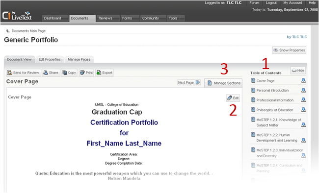You'll want to begin navigating and customizing you portfolio as soon as possible