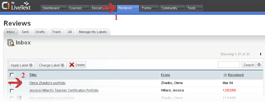 Hover over items to get an overview of the portfolio's status