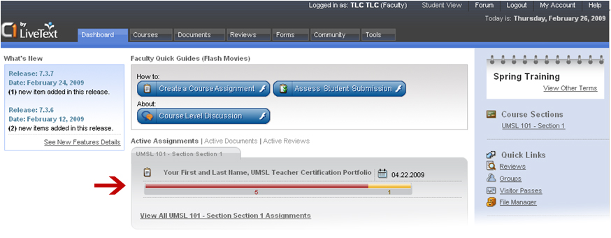 The progress bar gives you a simple overview of all of your student's progress.
